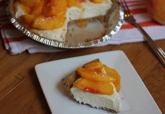 No-Bake Peach Pie Lynn's Kitchen Adventures