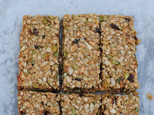 Gluten-Free Nut-Free Granola Bars from She Let Them Eat Cake