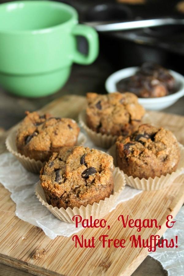 Gluten-Free Nut-Free Paleo Sweet Potato Muffins from Tessa, The Domestic Diva