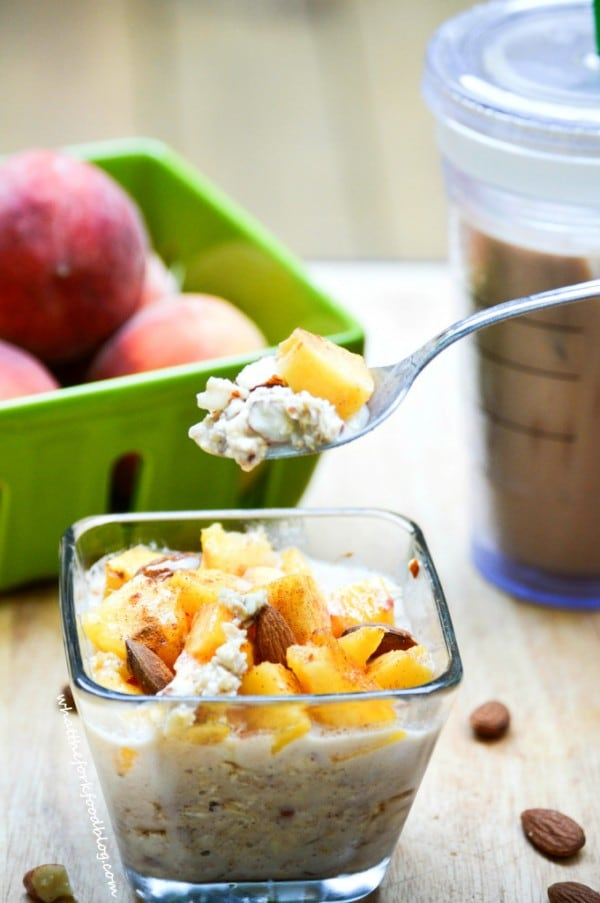 Peach Pie Overnight Oats What the Fork Food Blog