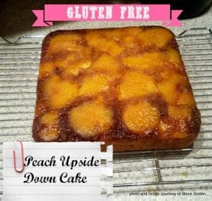 My buddy Steve Zeiden (The Grateful Celiac) shares his gluten-free Peach Upside Down Cake recipe. He converted a magazine recipe to this beautiful and delicious gluten-free version! [from GlutenFreeEasily.com] (photo)