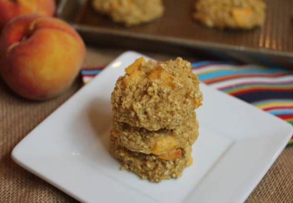 Peaches-and-Cream-Baked-Oatmeal-Breakfast-Cookies-Lynn's Kitchen Adventures