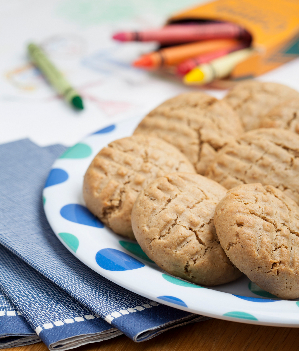 Gluten-Free Nut-Free Peanut-Free Peanut Butter Cookies from Ricki Heller