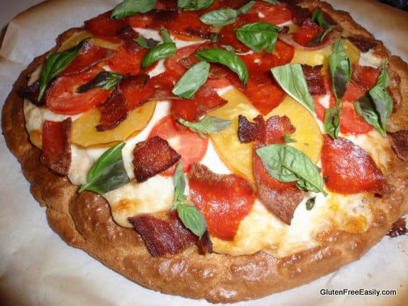 Thick Crust Gluten-Free Pizza with Seasonello Added