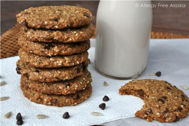 Gluten-Free Nut-Free Protein-Packed Monster Breakfast Cookies from Allergy Free Alaska