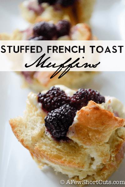 Gluten-Free Stuffed French Toast Muffins