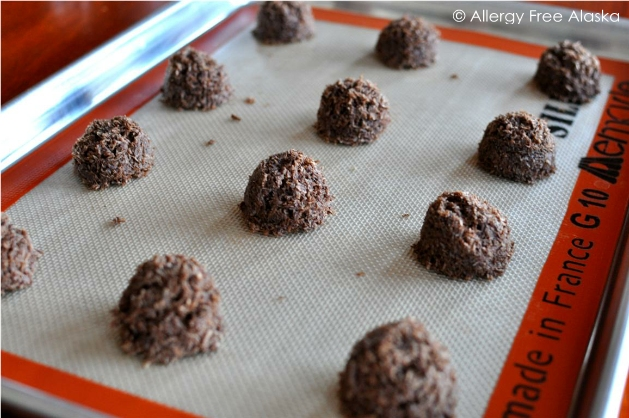 Gluten-Free Nut-Free Sugar-Free Chocolate Macaroons from Allergy Free Alaska