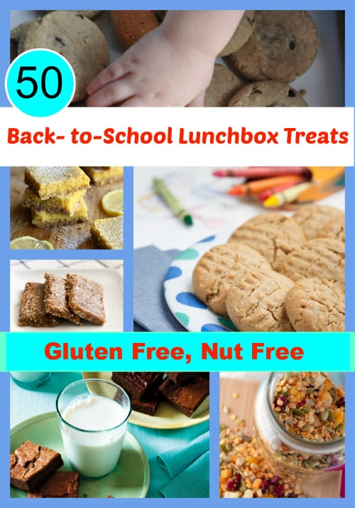50 Gluten-Free Nut-Free Back-to-School Treats Collage