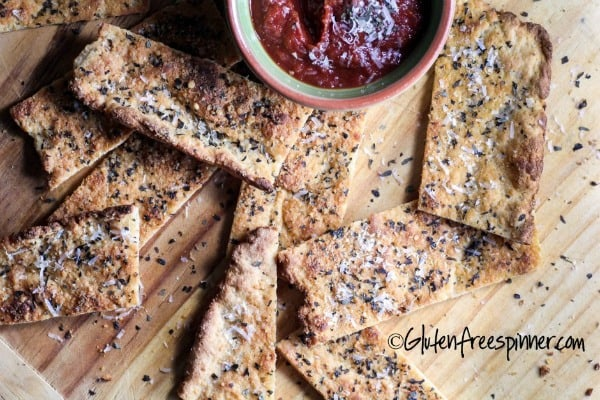 Gluten-Free Flatbread with Herbs and Parmesan from Gluten-Free Spinner [featured on GlutenFreeEasily.com] (photo)