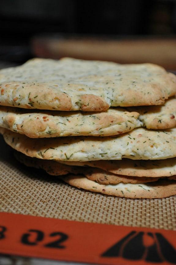 Gluten-Free Feta and Dill Flatbread Gluten-Free Gobsmacked1