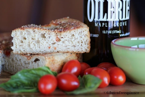 Gluten-Free Focaccia with Tomatoes Gluten-Free Spinner