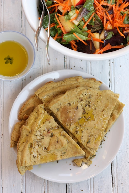 Gluten-Free Herb Flatbread with Garbanzo Beans The Spunky Coconut