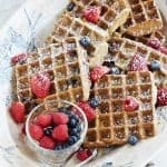 Gluten-Free Lemon Blueberry Waffles
