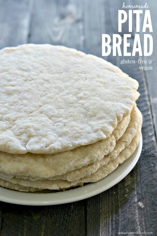 Gluten-Free Pita Bread from Fork and Beans