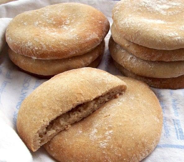 Gluten-Free Pita Bread. Perfection! [featured on GlutenFreeEasily.com] (photo)