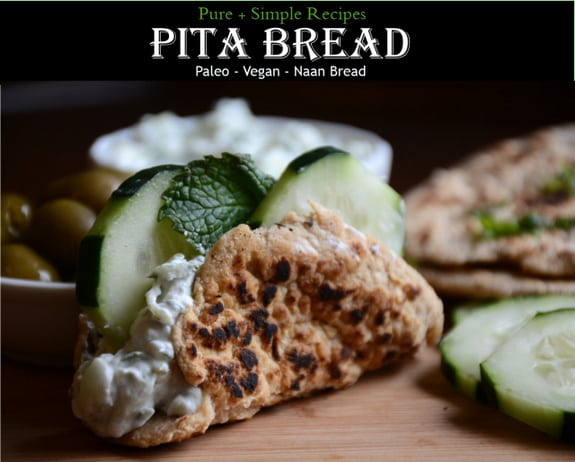 Grain-Free Paleo Vegan Pita Naan Bread Pure and Simple Recipes