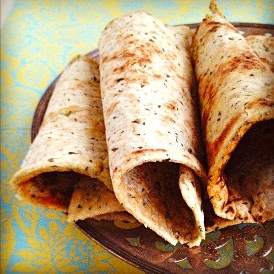 Grain-Free Pesto Lavash Flatbread Brittany Angell