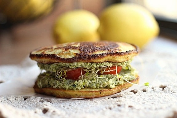 Gluten-Free Herb Coconut Flatbread Oatmeal with a Fork