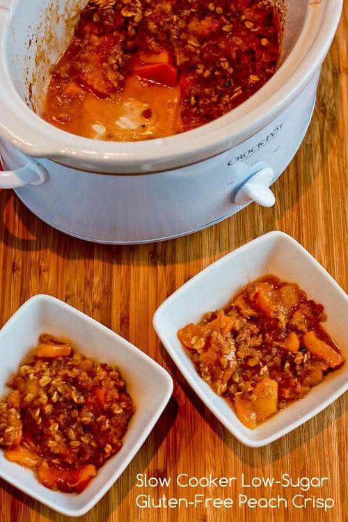 Slow Cooker Gluten-Free Low Sugar Peach Crisp Kalyn's Kitchen
