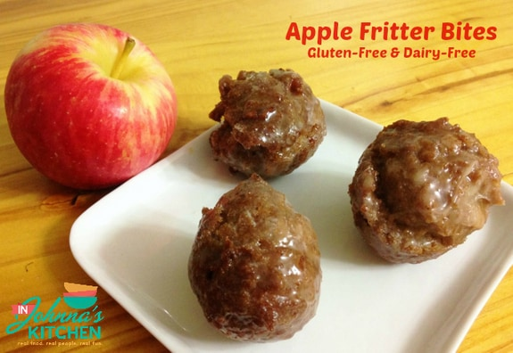 Gluten-Free Dairy-Free Apple Fritter Bites In Johnna's Kitchen