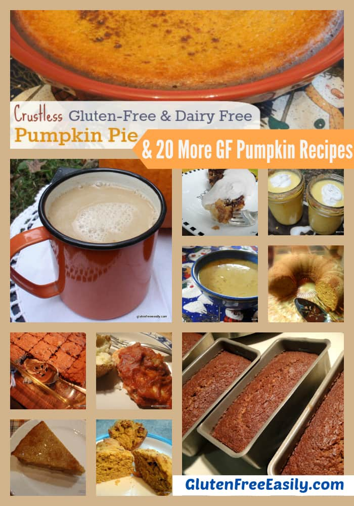 20 Gluten-Free Pumpkin Recipes. Something for everybody! Lots of sweet treats but some savory recipes, too. [from GlutenFreeEasily.com]