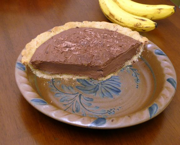 Almond-Coconut Pie Crust with Chocolate Banana Mousse Pie Gluten Free Goodness