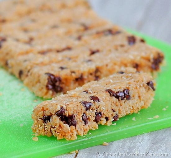 Coconut Chocolate Chip Magic Granola Bars Chocolate-Covered Katie
