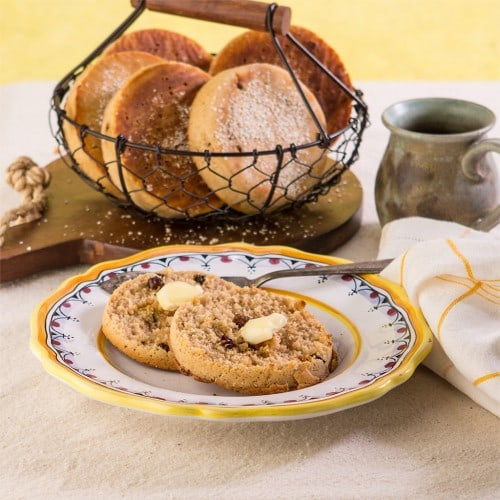 Gluten-Free Cinnamon Raisin English Muffins Gluten Free Canteen