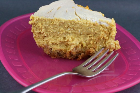Gluten-Free CrockPot Slow Cooker Pumpkin Cheesecake A Year of Slow Cooking