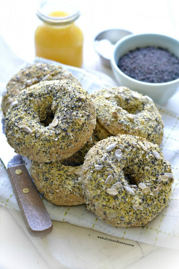 Gluten-Free Dairy-Free Egg-Free Everything Vegan Bagels Fork and Beans