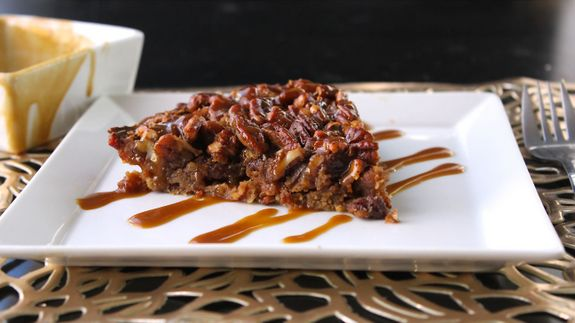 Gluten-Free Paleo Pecan Pie with Bacon Crust and Caramel Drizzle Predominantly Paleo