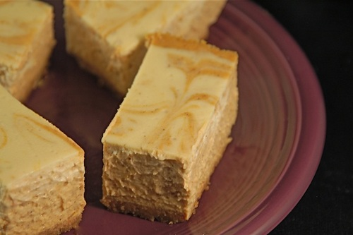 Gluten-Free Pumpkin Cheesecake Bars with Dairy-Free, Vegan Option