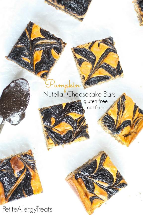 Gluten-Free Pumpkin Nutella Cheesecake Bars Petite Allergy Treats