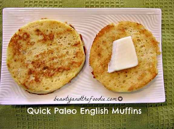 Gluten-Free Quick Paleo English Muffins Beauty and the Foodies