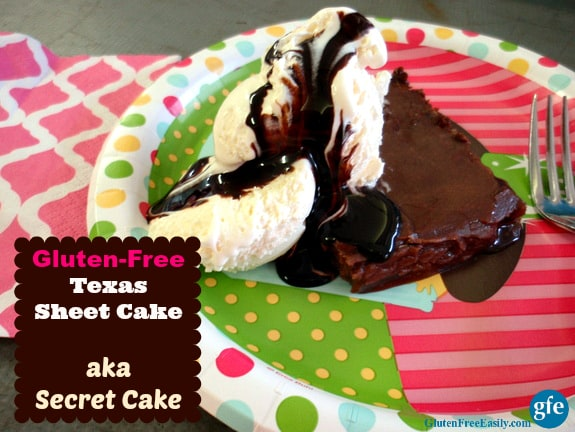Gluten-Free Texas Sheet Cake (makes a great birthday cake or cake for another special occasion) [from Gluten Free Easily.com] (photo)