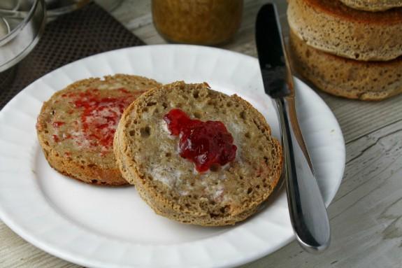 Gluten-Free Whole Grain English Muffins Tessa The Domestic Diva