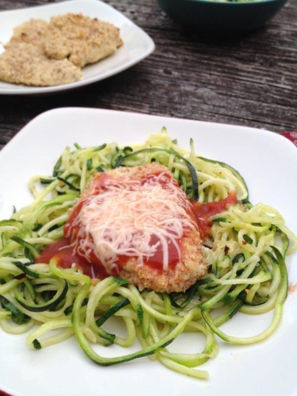 Grain-Free Chicken Parmesan Zucchini Noodles Tastefully Gluten Free