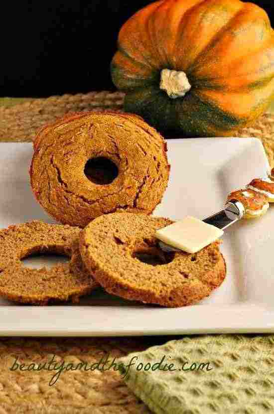 ow Carb Gluten-Free Pumpkin Bagels Beauty and the Foodie