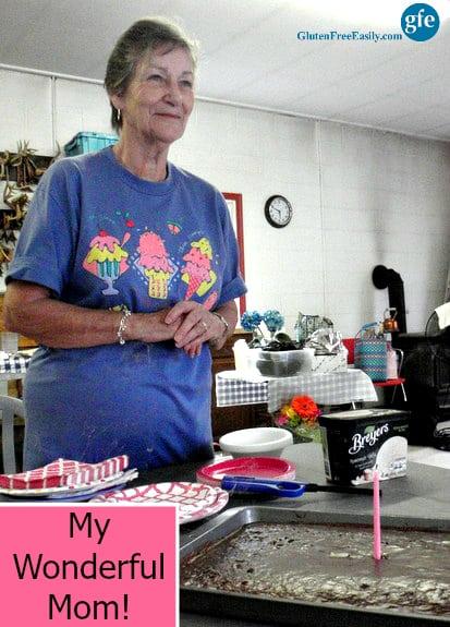 Gluten-Free Texas Sheet Cake and My Mom (GlutenFreeEasily.com)