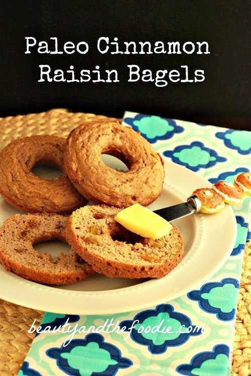 Gluten-Free Dairy-Free Paleo Cinnamon Raisin Bagels Beauty and the Foodie