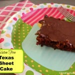 You are going to love this Gluten-Free Texas Sheet Cake! Worthy of ANY special occasion!