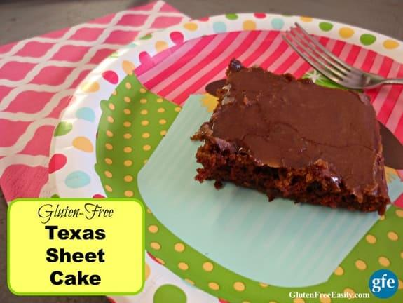 Gluten-Free Texas Sheet Cake from Gluten Free Easily