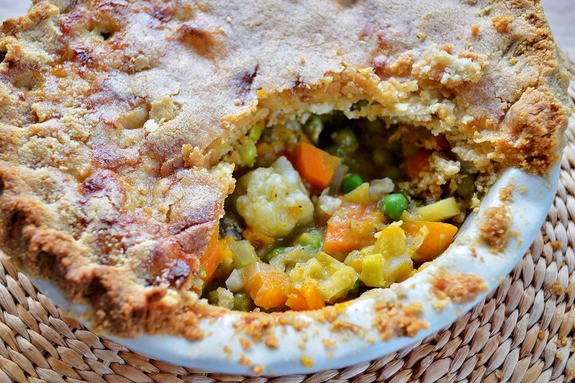Grain-Free Vegetable Pot Pie Gluten Free SCD and Veggie