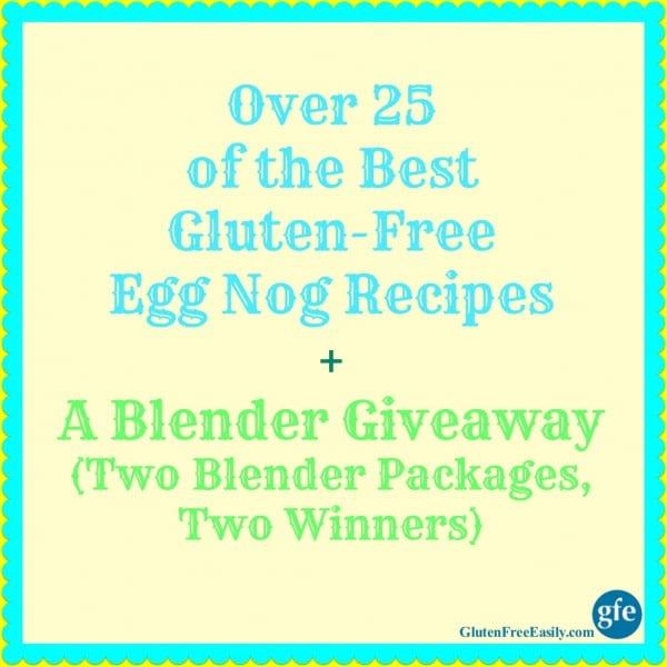 Egg Nog Recipe Blender Giveaway Poster