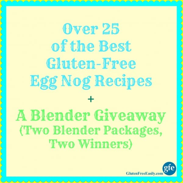 Egg Nog Recipe Blender Giveaway Poster