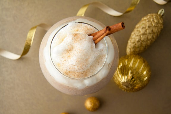 Eggnog Smoothie with 1-Minute Vanilla Whip Healthful Pursuit
