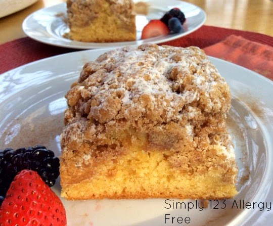 Gluten-Free Dairy-Free Crumble Coffee Cake Simply 123 Allergy Free
