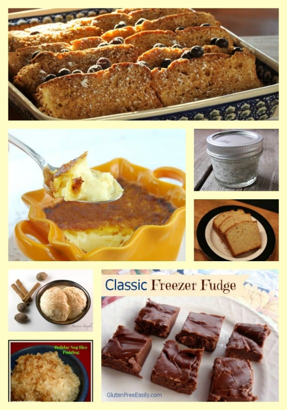 Gluten-Free Egg Nog Recipes Collage