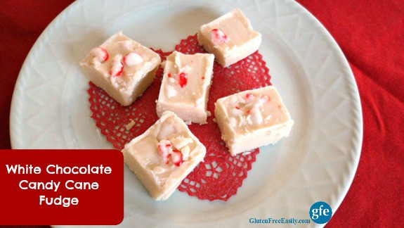 White Chocolate Candy Cane Fudge Gluten Free Easily