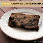 Paleo Banana Chocolate Chunk Pound Cake